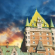 Stock Photo: Quebec City Castle, Canada. Beautiful sky over Chateau de Fronte