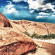 Beautiful rocks of Australian Outback against colourful sky — Stock Photo #29014063