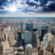 Manhattan, New York City. Terrific view of city skyscrapers — Stock Photo