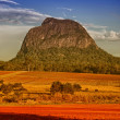Mount Tibrogargan. Beautiful colors of Glasshouse Mountains Park — Stock Photo