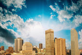 Montreal skyline with beautiful sky colors - Canada — Stock Photo