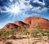 Beautiful colors of Outback in winter season - Australia — Stock Photo