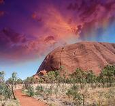 Outback de merveilleuse couleurs dans le désert australien — Photo