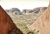 View of the beautiful landscape in the Australian outback. — Stock Photo