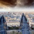 Sunset over Paris, view from Triumph Arc Terrace — Stock Photo #29020235
