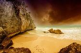 Storm on Tulum Coast of Mexico — Stock Photo