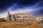 Rome. Storm above Colosseum — Stock Photo