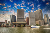 Port of New York City - Governors Island Ferry Pier — Stock Photo