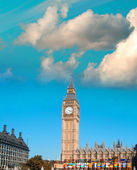 London. Big Ben tower and Westminster Palace — Stok fotoğraf