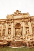Détail d'architecture de fontaine de trevi à rome — Photo