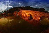 Devils Bridge at Night in Lucca, Italy — Stock Photo