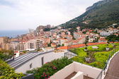 Beautiful aerial view of Monaco - Montecarlo, France — Stok fotoğraf