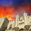 Stock Photo: Popes' Palace of Avignon, unesco world heritage in Southern France
