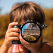 Paris through the eyes of a child — Stock Photo