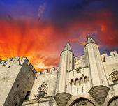 Popes' Palace of Avignon, unesco world heritage in Southern France — Stock Photo
