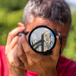 London - The Tower Bridge on the lens of a Photographer — Stock Photo