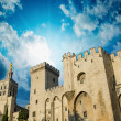 Stock Photo: Popes Palace of Avignon, exterior view at sunset - Unesco world