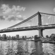 New York City. Famous landmark of Brooklyn Bridge — Стоковая фотография