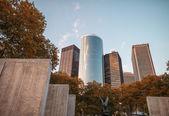 New york. ampio angolo di visualizzazione strada di moderni grattacieli alti — Foto Stock