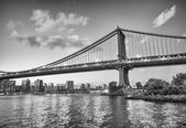 New York City. Famous landmark of Brooklyn Bridge — 图库照片