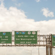 Interstate signs and directions near New York City — Stock Photo