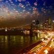 Amazing night in New York City - Manhattan Skyline and Brooklyn — Stock Photo #29848001