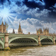 London, UK - Palace of Westminster (Houses of Parliament) — Stock Photo