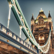 Wonderful colors and lights of Tower Bridge at Dusk - London — Stock Photo #29858315