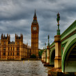 Scene with Big Ben and House of Parliament — Stock Photo