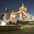 Scenic night view of Tower Bridge in all its magnificence - London — Stock Photo
