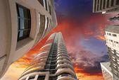 Toronto modern binalar ve gökdelen harika yukarı doğru görünümü — Stok fotoğraf
