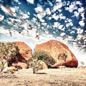 Wild landscape in the australian outback, Northern Territory — Stock Photo
