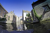 Bruges river and Buildings - Belgium — Stock Photo