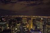 Evening sky over New York Skyscrapers - Manhattan — Stock Photo