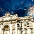 Architectural detail view of The Famous Trevi Fountain in Rome, — Stock Photo