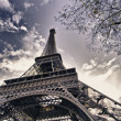 Colors of Eiffel Tower in Winter — Stock Photo