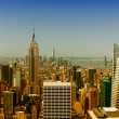 Beautiful skyline of New York from a city rooftop — Stock Photo