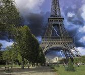 Eiffel Tower from Champ de Mars, Paris — Stock Photo