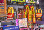 NEW YORK CITY - JUN 8: Mc Donald's sign in the night, June 8, 20 — Stock Photo