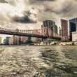 Williamsburg Bridge, New York City. Beautiful view from East Riv — Stock Photo #30121791