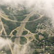 Stock Photo: Wonderful aerial view of Interstates near New York City - USA