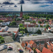 Stock Photo: Beautiful medieval architecture and cityscape of Lubeck - German