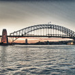Stock Photo: Sydney Harbor Bridge - Full side view panoramic iconic image