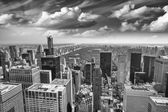 Aerial view of Upper Manhattan and Central Park area — Stock Photo