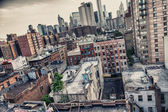 Buildings of Manhattan - New York skyline — Stock Photo