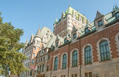 Magnificence of Hotel Chateau de Frontenac, Quebec Castle — Stock Photo