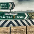 Stock Photo: Road directions of Queensland Countryside, Australia