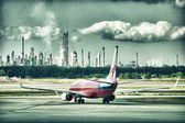 BRISBANE - JUL 17: Airbus 330 Virgin Atlantic in the airport — Stock Photo
