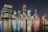 Brisbane, Australia. Beautiful night city skyline with river — Stock Photo