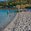 FRASER ISLAND, AUSTRALIA - JUL 11: Tourists enjoy Lake MacKenzie — Stock Photo #30141397